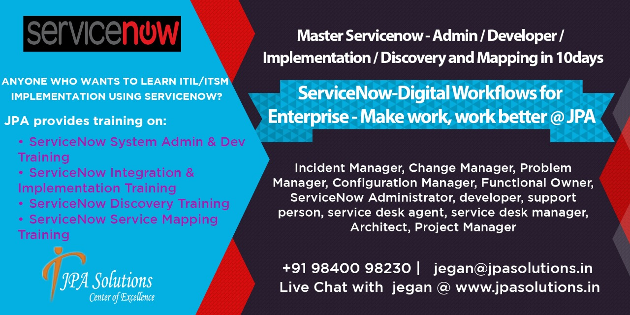 ServiceNow Certification Course in Chennai | ServiceNow Online ...
